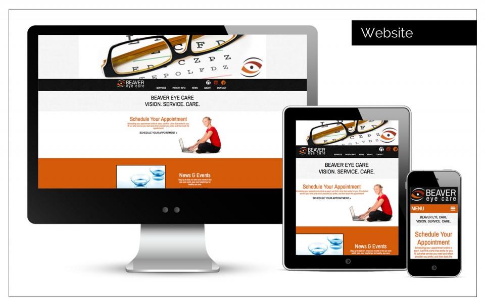 Beaver Eye Care website was looking for a logo - Logo Design Help Northwest Iowa
