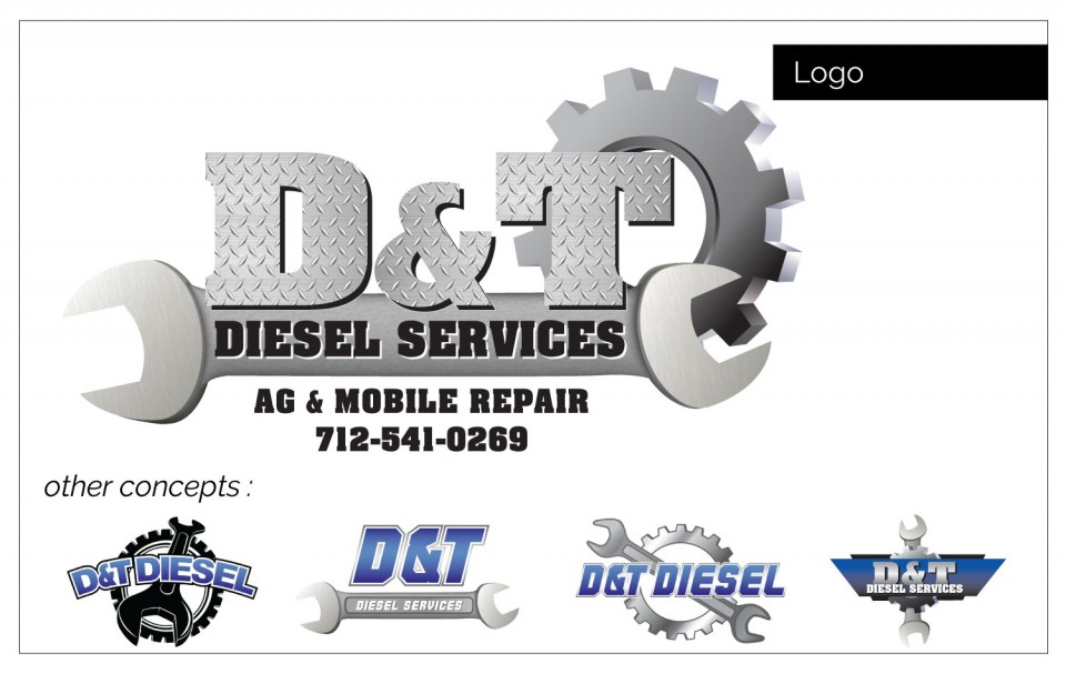 D & T was needing a logo. Agency Two Twelve provided - Business Graphic Design Northwest Iowa