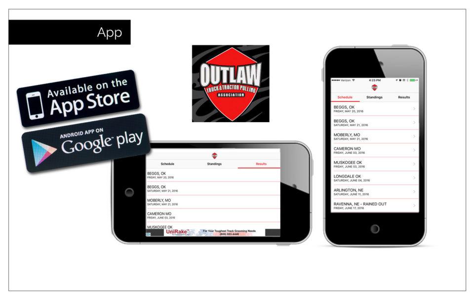 Association's website Outlaw mobile app - Digital Agency Northwest Iowa