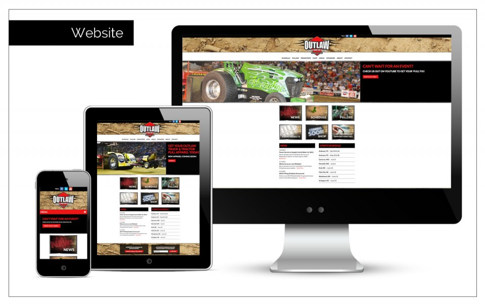 Digital Agency Northwest Iowa - Association's website for Outlaw Pulling by Agency Two Twelve