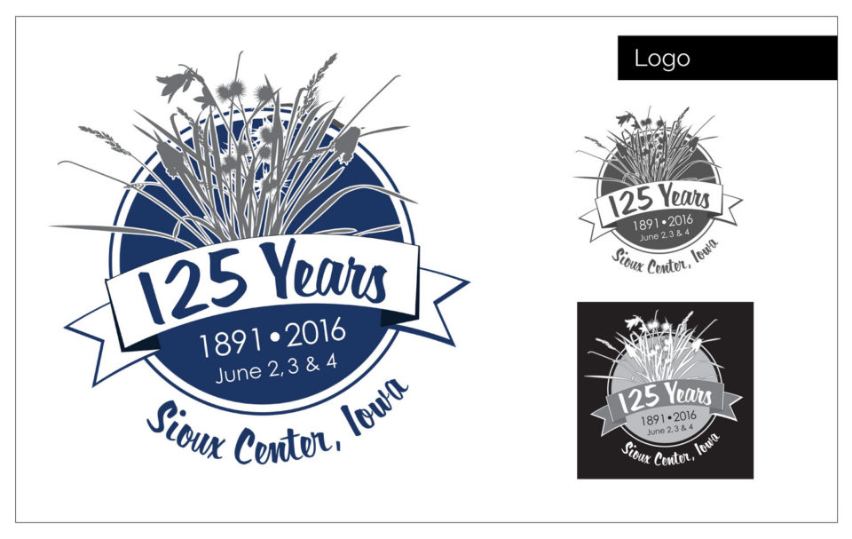 Professional Logo Design Northwest Iowa - Agency Two Twelve designed these logos as part of an ad design for the local papers