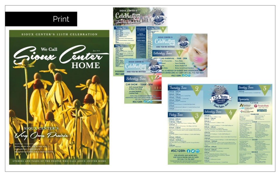 Agency Two Twelve's ad design for the local papers - Professional Logo Design Northwest Iowa