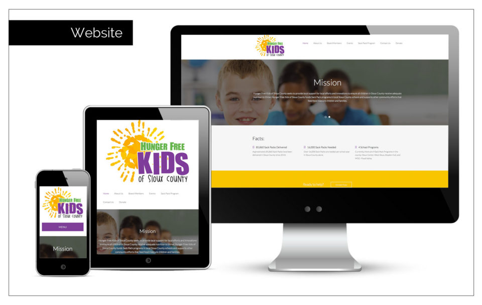 Non-Profit Marketing Iowa - website, logo, and print materials by Agency Two Twelve