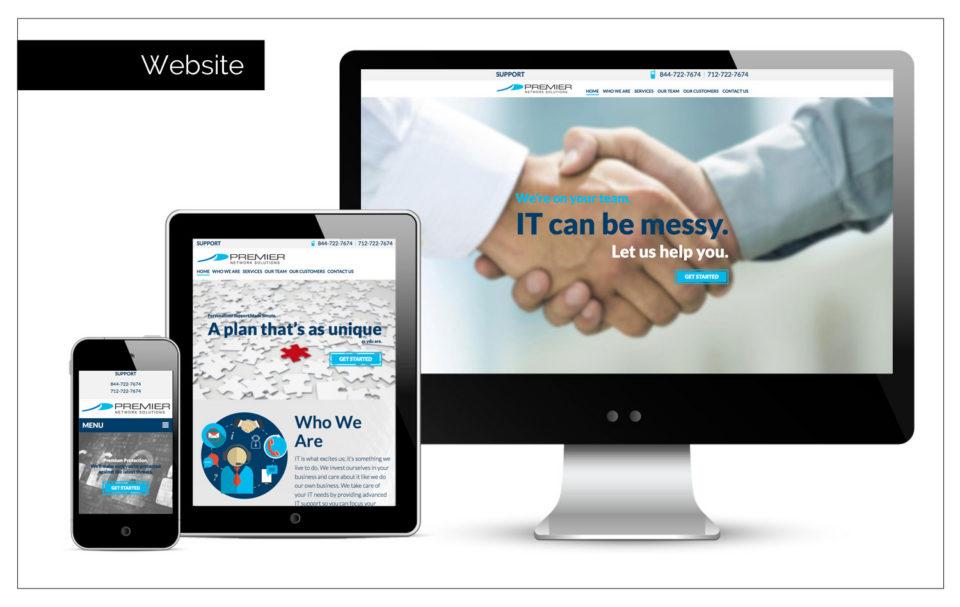 Agency Two Twelve helped in designing a parallex website - Branding Company Northwest Iowa