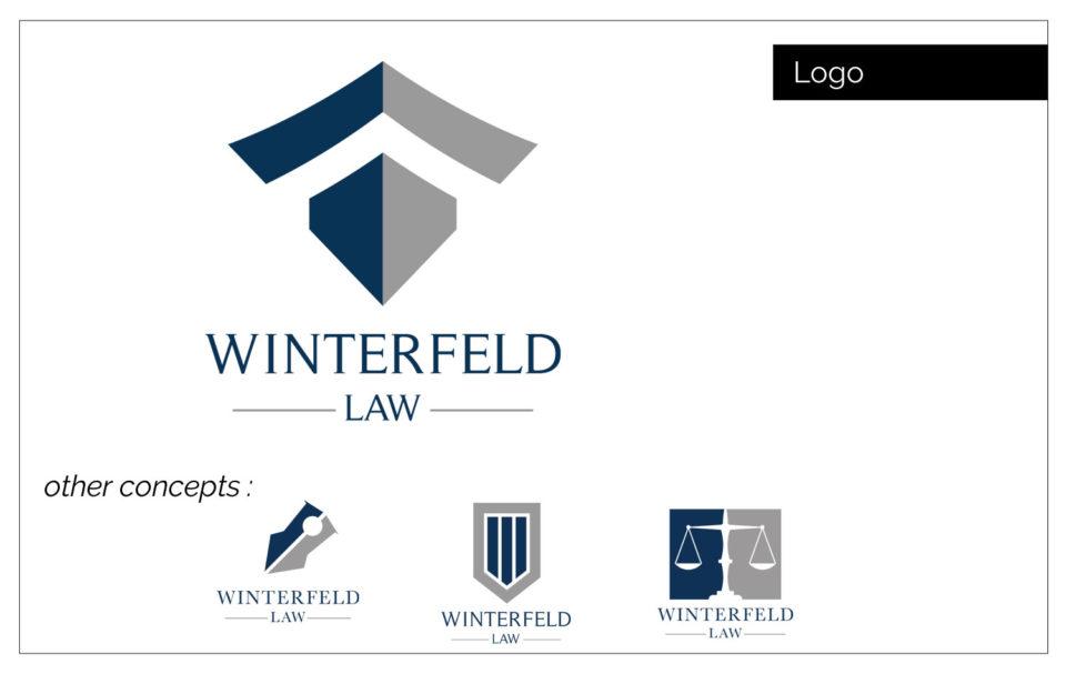 Agencty Two Twelve - Winterfeld Law - Iowa Logo Development