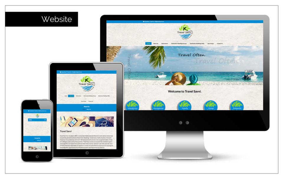 Agency Two Twelve - Travel Savvi - Website Design Northwest Iowa