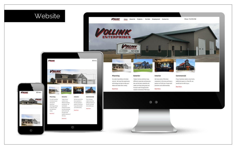 Agency Two Twelve - Vollink Construction - Build Website Northwest Iowa