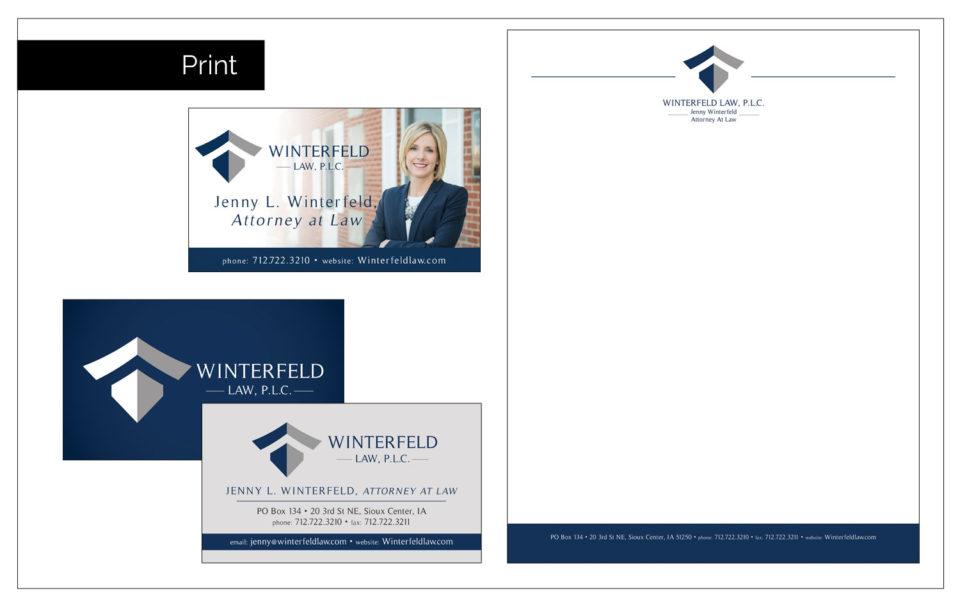 Iowa Logo Development - Agency Two Twelve - Winterfeld Law