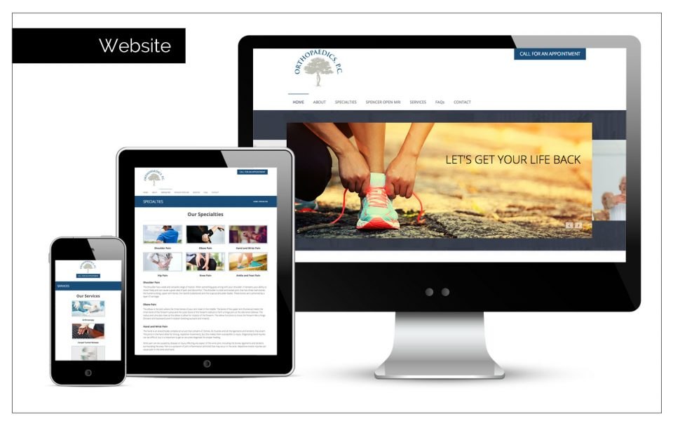 Orthopaedics, P.C. Website | Agency Two Twelve Sioux Center, Iowa | Advertising, Marketing and Public Relations Firm