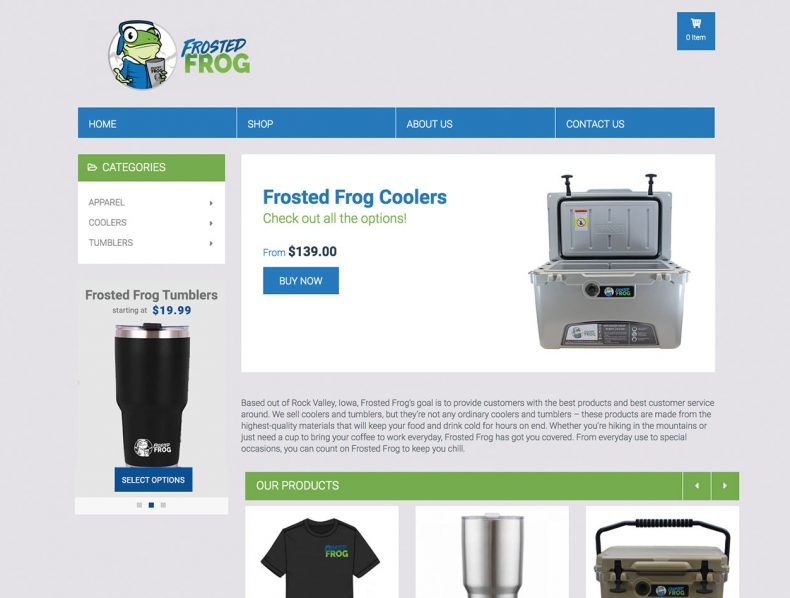 Frosted Frog | Website Case Files | Agency Two Twelve
